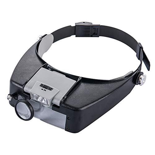 Magnifier Lunchbox, Magnifier met ledverlichting, 3 verschillende vergrotingen, vergrootglas voor de reparatie van de chirurgische nauwkeurigheid van het werk