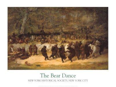 dancing bears painting - 2