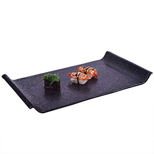 Platos de cerámica para sushi de porcelana rectangular para servir platos para decoración de fiestas, sushi, postres, aperitivos, aperitivos