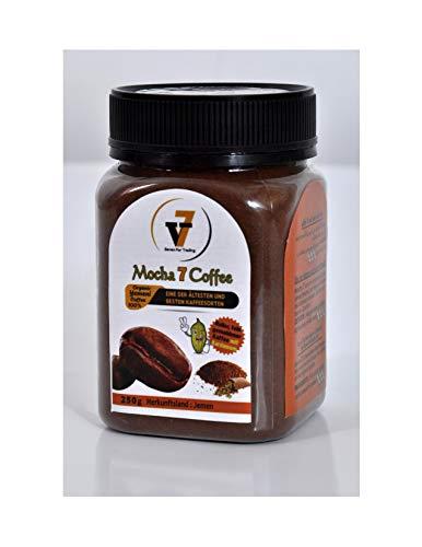 Mocha 7 Coffee 100% Arabica 100% Organic Yemeni Coffee Jemenitischer Kaffee Harazi Milder dunkler Heller fein gemahlener Kaffee mit Kardamom (heller)