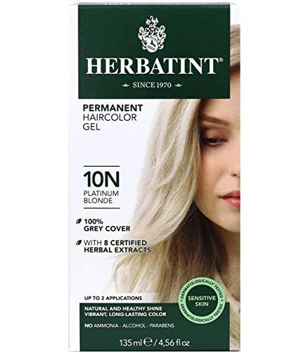 Herbatint Permanent Haircolor Gel, 10N Platinum Blonde, 4.56 Ounce