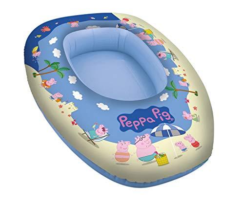 Lively Moments Kinderboot / Aufblasboot / Schlauchboot mit den Charakteren von Peppa Pig / Familie Wutz ca. 80 x 54 x 22 cm