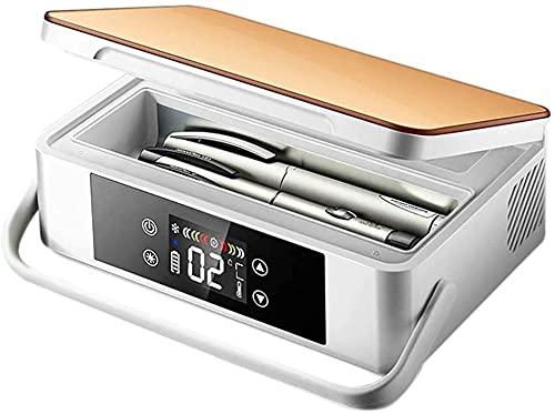 NYZXH Caja refrigerada de insulina - Mini refrigerador de automóvil portátil con batería de Litio 2-8 ° C refrigerador, refrigerador de medicamentos, Adecuado para Viajes/interferón/Almacenamiento