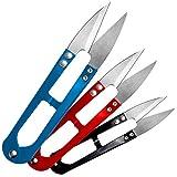 3 x Filo forbici/cuciture separa/filo Schneider in rosso, blu e nero...