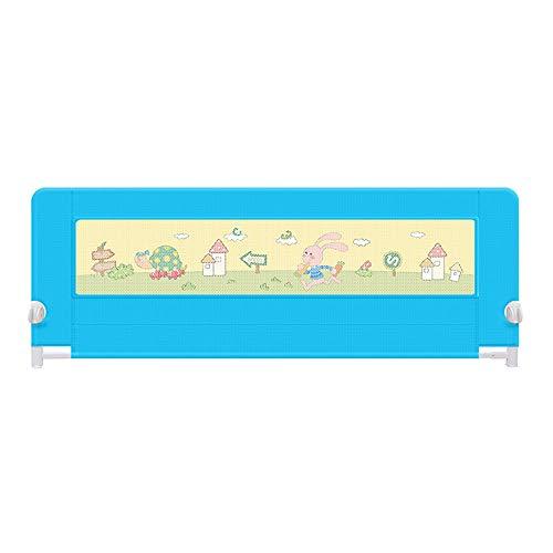 Barrières de lit LHA Barre de lit portative Safety First, Bleu, Rose, Violet (Couleur : Bleu, Taille : L-180cm)