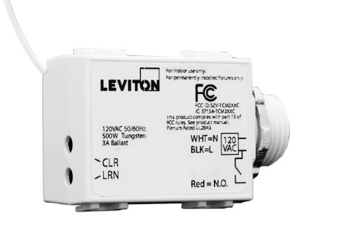 Leviton WST05-10 LevNet RF Threaded Mount 3-Wire 500 Relay Receiver, 120VAC