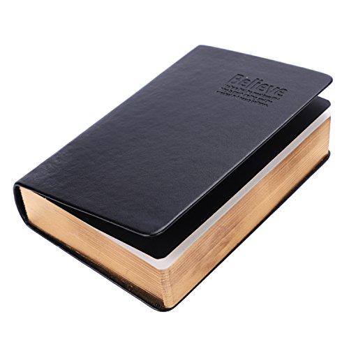 Quaderno Notepad in pelle ultra spessa Quaderno studio vuoto in Bibbia Quaderno diario Quaderno della Bibbia Disegno Scrittura Notepad Sketchbook con nastro Marker 480 Pagine