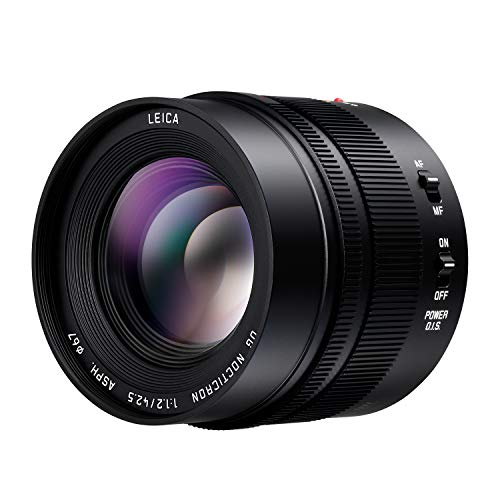 PANASONIC LUMIX G LEICA DG NOCTICRON LENS, 42.5MM, F1.2 ASPH., PROFESSIONAL MIRRORLESS MICRO FOUR THIRDS, POWER OPTICAL I.S., H-NS043 (USA BLACK)