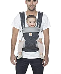 SUPPORTS BABY TO TODDLER: 360 baby carrier is comfortable and ergonomic as baby grows beginning around 4 months when baby starts exploring beyond her caregiver to see the world (12-45 lbs./ 5.5-20 kg) CARRIES IN ALL POSITIONS: Face baby out to see th...