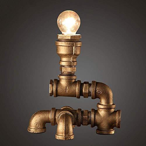 Lámpara Escritorio Lámpara de Tubo de Hierro lámpara de Estilo Loft con atenuador Regulable Steampunk Industria luz Antigua Retro, lámpara de Mesa de Tubo de Hierro,