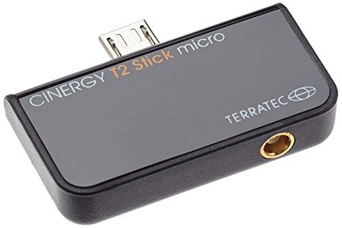 TerraTec CINERGY T2 Stick Micro - USB DVBT 2 TV Mini Receiver – Macht Tablet, Laptop oder PC zum HD Fernseher Radio Empfänger, schwarz, 195447