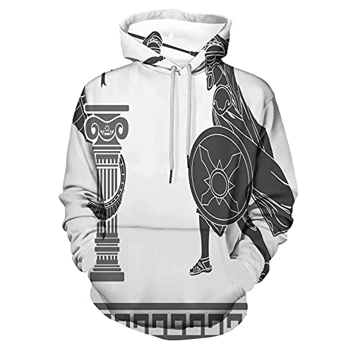 Fashion Hoodie Hooded Toga Party Mythological Scene Ancient Hero for Men/Women
