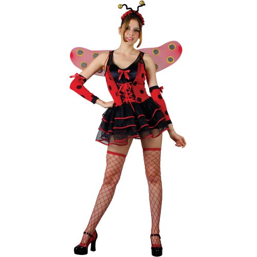 Lovely Ladybug Sexy Ladies Fancy Dress Costume XS