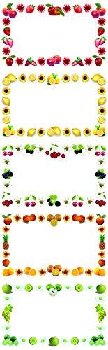 EAST-WEST Trading GmbH - Etichette per contenitori alimentari e barattoli, motivo frutta, 250 pezzi