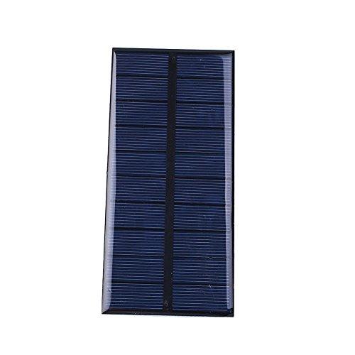 Cewaal DC5V 1.5W 300mA Epoxy Sunpower Panel de energía solar de silicio policristalino Módulo DIY para el juguete del cargador de la célula