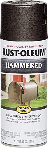Rust-Oleum 7218830 Stops Rust Hammered Spray Paint, 12 Oz, Dark Bronze