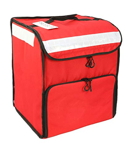 ProdelBags - Sac à dos isotherme rouge pour livraison, avec une poche