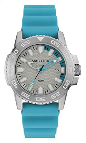 Nautica Herren Analog Quarz Uhr mit Silikon Armband NAI12531G