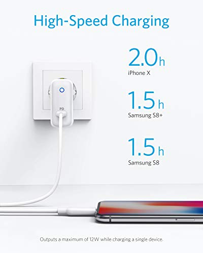 Anker USB C Ladegerät,PowerPort Speed 1 30W USB Ladegerät mit Power Delivery für iphone 11/11 Pro/11 Pro max /XS/XR/X/8, MacBook Pro/Air 2018, iPad Pro 2018, Nexus 5X / 6P, LG G5,Samsung W700 usw.
