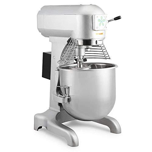 ZGYQGOO 20L Mixer Stand Mixer Elektrische Mixer 5 KG Handelsqualität 750 Watt Elektrische Mixer 3 Geschwindigkeiten Silber Küchenmaschine (20L)