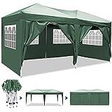 Eloklem - Cenador Impermeable para Todas Las Estaciones, 3 x 3 m, 3 x 6 m, con Paredes para Fiestas, Bodas y Ceremonias, Color Gran_Verde, tamaño 3x6m