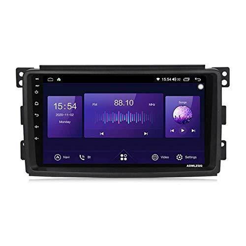 WY-CAR Android 10.0 Unidad Principal De Navegación GPS con Pantalla Táctil HD De 9 Pulgadas para Benz Smart 2006-2009, FM/RDS/DSP/Bluetooth/Controles del Volante/Cámara De Visión Trasera…