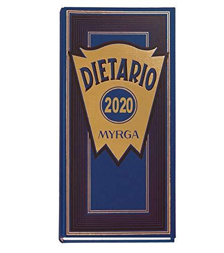 DIETARIO MYRGA 2/3 2020 D/P VERDE (315 x 155mm) CASTELLANO (AZUL)