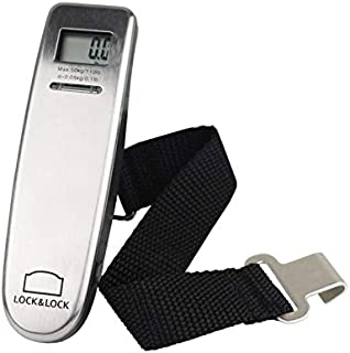 JPVGIA Baggage Scale Small Portable Luggage Scale High Precision Household Electronic Scale White Plastic Travel Scale (Weighing Range 0.2-50kg)