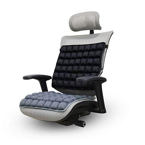 Aufblasbare Luftkissen Sitzkissen aufblasbares Rückenstütze Kissen Rückenkissen Rollstuhl-Sitzkissen Anti Dekubitus Orthopädie Sitzpolster Druckentlastung (Color : Black, Size : Seat Cushion)