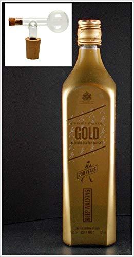 Flasche Johnnie Walker Gold Label Scotch Whisky + Glaskugelportionierer