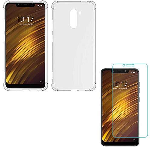Kit Capa Anti Shock Queda para Xiaomi F1 Pocophone + Película de Gel Transparente, Cobertura Completa