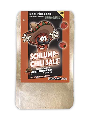 Schlump-Chili⎥CHISA⎥Mittelscharfes Chili Salz Probierpack Gewürzmischung mit Meersalz und Habanero Chili (1 x 20 g)