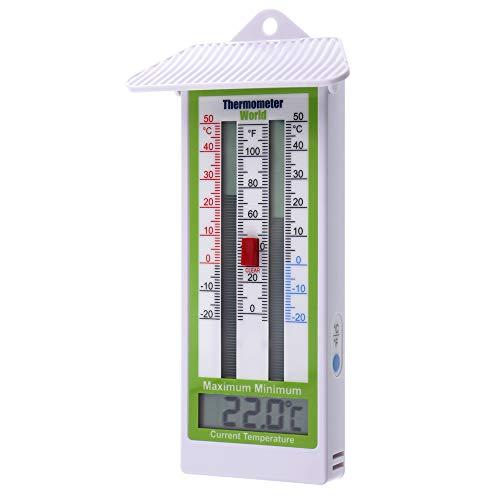 Digitales Max/Min-Thermometer für den Garten, das Gewächshaus oder Innen- und Außenwand, IP65 Rating