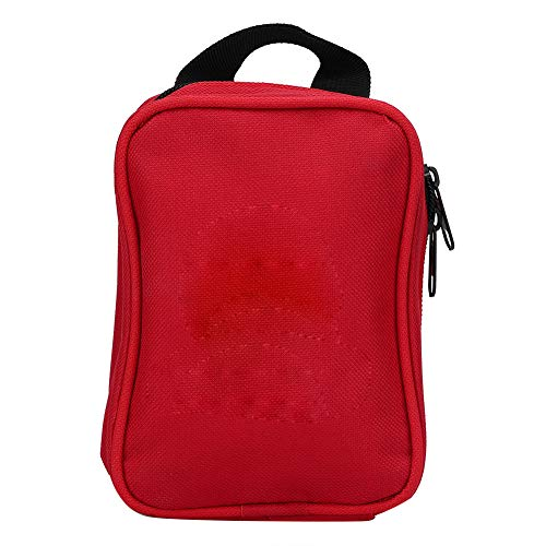 EHBO-kit, draagbare noodkit voor noodgevallen, overlevingstas, medische kittas, voor thuis, op reis, op de camping, op kantoor, survival, outdoor rood