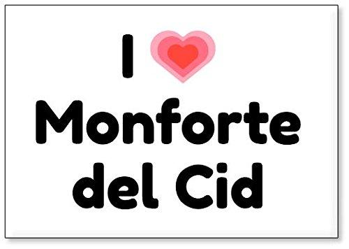 Mundus Souvenirs - Amo Monforte del CID, Imán para Nevera (diseño 3)
