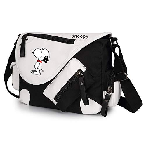 AUGYUESS Snoopy Cosplay Handbag School Bag Crossbody Shoulder Bag Messenger Bag