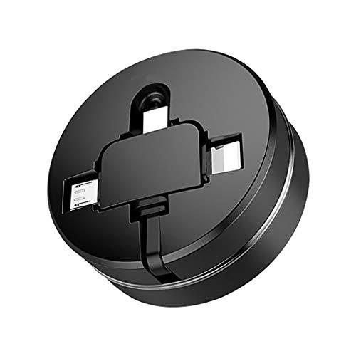 Eariy - Cable de carga rápida 3 A USB extensible 3 en...