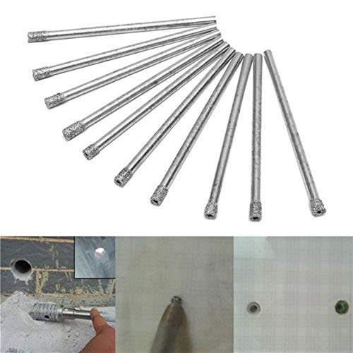 HYY-YY Drill Diamond Coated 10pcs 3mm Hole Saw Drill Bits Set Core Marble Glass Granite Drill Bits Drill Accessories