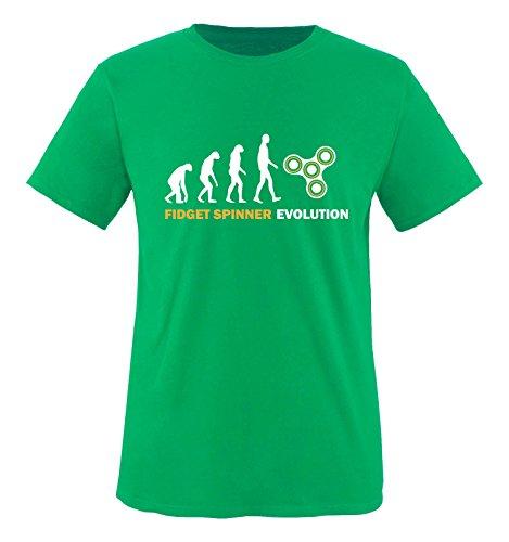 Comedy Shirts Fidget Spinner Evolution T-shirt pour garçon 100 % coton - Vert - 3 ans