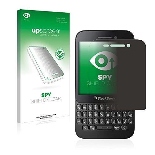 upscreen Anti-Spy Blickschutzfolie kompatibel mit BlackBerry Q5 Privacy Screen Sichtschutz Bildschirmschutz-Folie