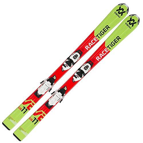 Völkl Racetiger JR Red/Motion Skiset 130-160 cm `19 Länge 140, Montage Montage nach Sohlenlänge