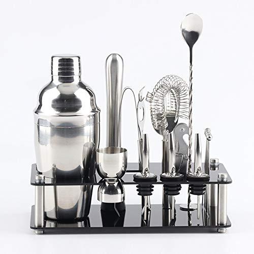 LM para 18 en 1 Cocktail Shaker Tools Setwith Mount Acrylic, Capacidad: 750ml 2021 Nuevo uno
