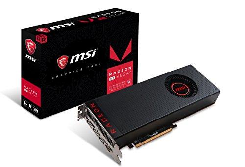 MSI Radeon RX Vega 64 8G - Tarjeta gráfica Enthusiast (8 GB de Memoria HBM2, AMD FreeSync, AMD Eyefinity, Afterburner Overclocking Utility)
