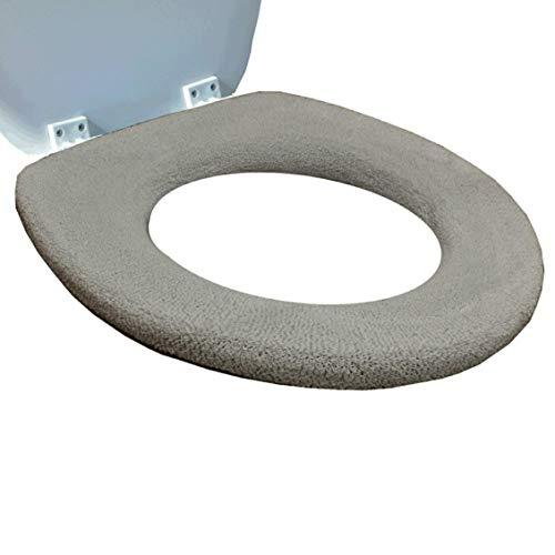 Copri Tavoletta del Water Medipaq® - Imbottitura in Vello Lussuoso Super Caldo – Anello Rinforzato – Misura Universale – Lavabile in Lavatrice