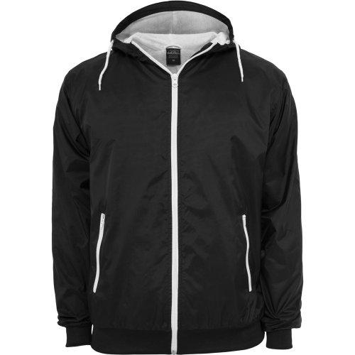 Urban Classics Männer Übergangsjacke schwarz/weiß L 100% Nylon Basics, Streetwear