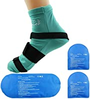 Cold Therapy Socks (w/Compression Strap) - Ice Pack Socks Man / Woman Cooling Socks Gel Ice treatment for feet, heels,...