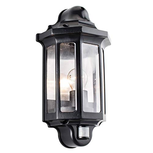 Saxby 1818PIR - Traditional PIR IP44 60W Incandescent Exterior Wall Light