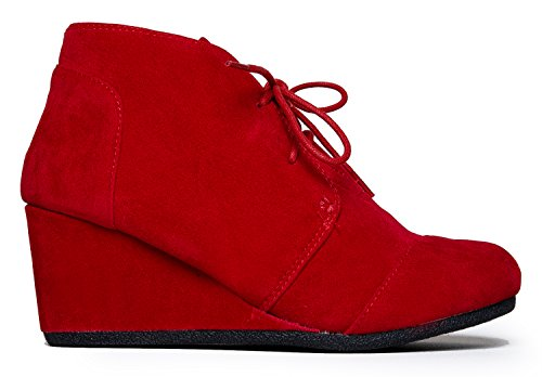 City Classified Patricia Ankle Bootie, Patricia Red, 5.5 B(M) US