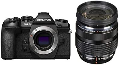 Olympus OM-D E-M1 Mark II Mirrorless Camera Body, Black M. Zuiko 12-40mm F/2.8 Zoom Lens