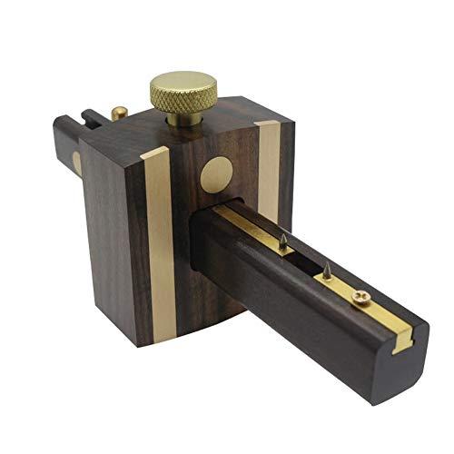 Black Ebony Marking Gauge Woodworking Marker Sliding Mark Scraper Adjustable Head Meter Marker of Screw Type Woodworking Tool CHBC Mortise Gauge